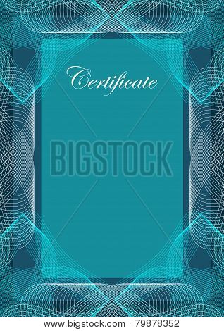 Blank certificate guilloche style