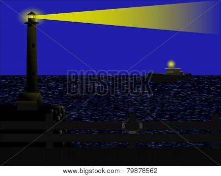 Lighthouse In The Dark