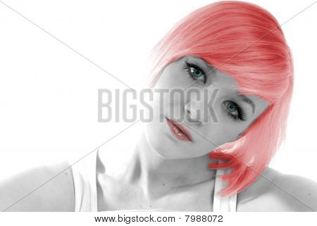 Pretty girl with red hair