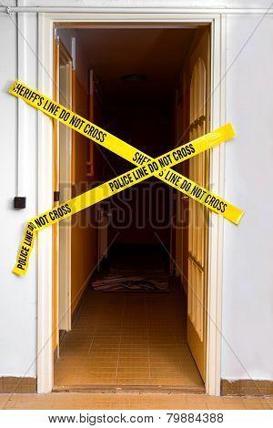Yellow Plastic Crime Scene
