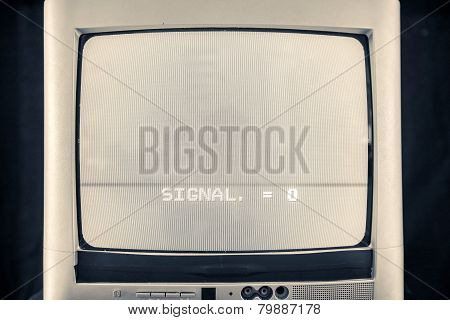 Old cathode tube television