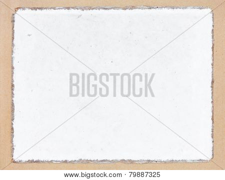 Old White Mulberry Paper Book Isolated