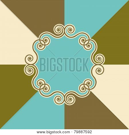 Background Design With Swirls