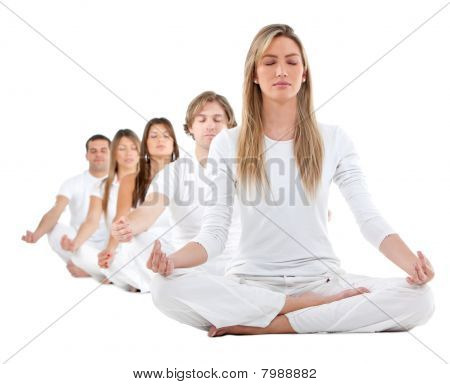 People Practicing Yoga