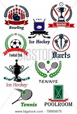 Sporting icons, emblems and symbols