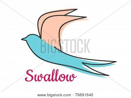 Abstract swallow bird symbol