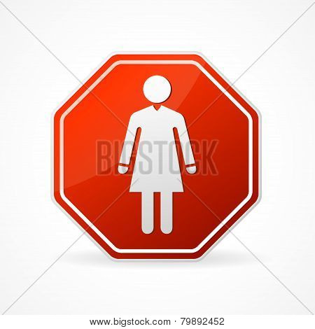 Vector Sign no woman on white background