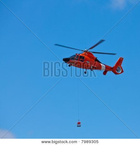 SAN CARLOS, CA - JUNE 19: Helicopter Eurocopter HH-65 Dolphin on display at the Vertical Challenge 2