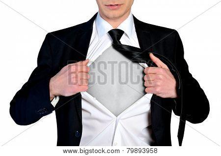 Super hero concept business man
