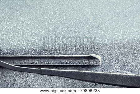 Frosty Windscreen And Wipers