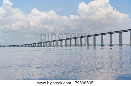 The Manaus Iranduba Bridge, also called Ponte Rio Negro in Brazil