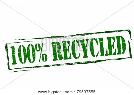 One Hundred Percent Recicled