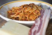 stock photo of spaghetti  - tasty Italian speciality - JPG