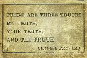 foto of proverb  - there are three truth  - JPG