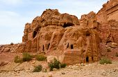 picture of rock carving  - Jordan Petra the ancient city - JPG
