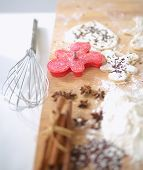 stock photo of plunger  - Baking ingredients for shortcrust pastry - JPG