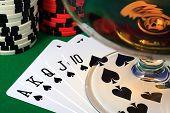 stock photo of flush  - The Best Poker Hand  - JPG