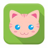 foto of kitty  - Vector illustration of kitty face - JPG