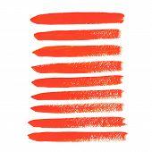image of stroking  - Vector illustration of Orange acrylic vector brush strokes - JPG