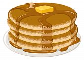picture of carbohydrate  - An Illustration of stack of pancakes with syrup and butter - JPG