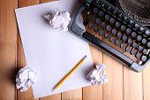 image of typewriter  - Antique Typewriter - JPG