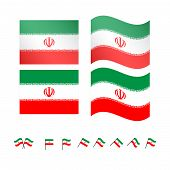 image of tabriz  - Set of flags of Iran eps 10 - JPG