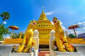 foto of thong  - Wat Phra That Sri Chom Thong - JPG