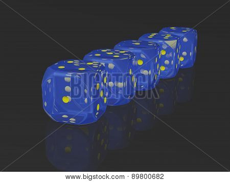 A row of dices
