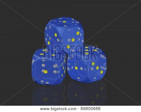 A stack of dice