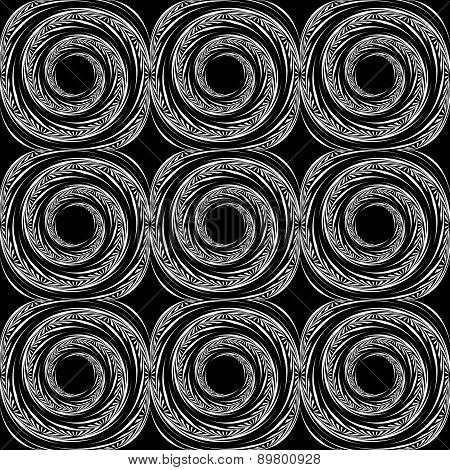 Design Seamless Monochrome Spiral Movement Background