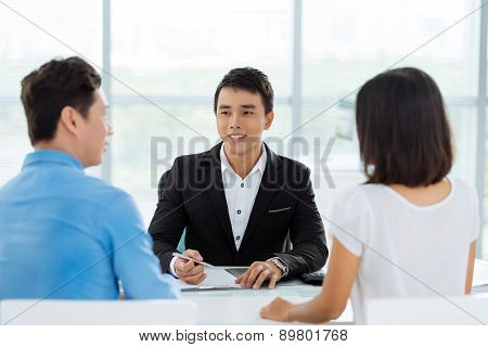 Consultation with real estate broker