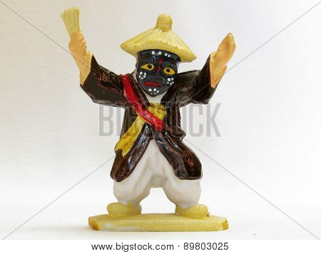 Korean figurine, isolated on a white background