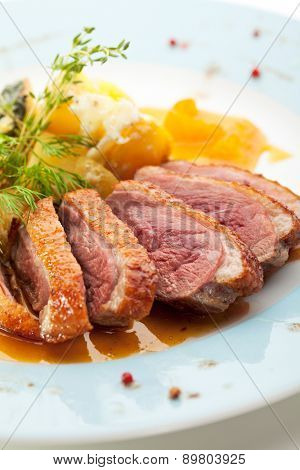 Duck Breast with Orange and Potato