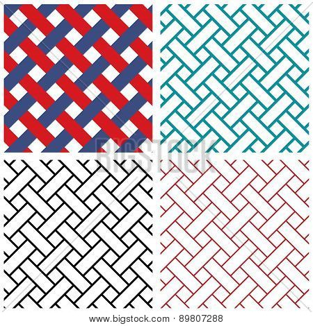 Tradition india weave line vector pattern