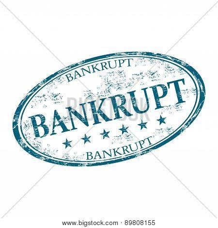 Bankrupt grunge rubber stamp
