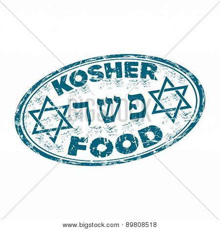 Kosher food grunge rubber stamp