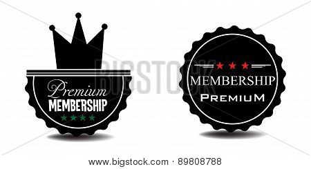 Premium membership badges