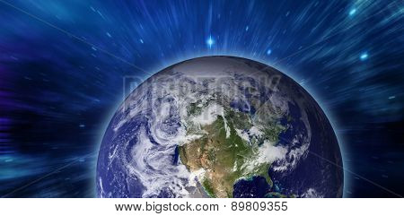 earth against outer space