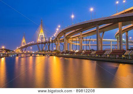 Industrial Ring Bridge across river