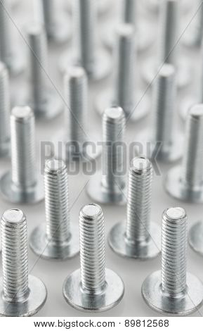 metal bolts tool on white background