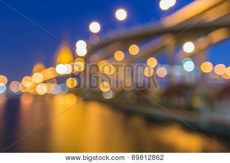 Blur Industrial Ring Road Bridge