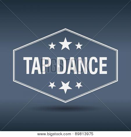 Tap Dance Hexagonal White Vintage Retro Style Label