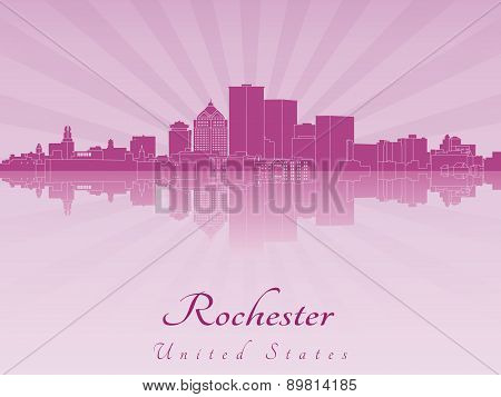 Rochester Skyline In Purple Radiant Orchid