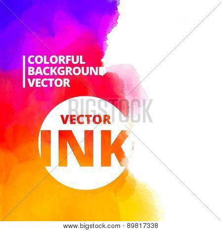 background of colorful ink splash vector design illustration