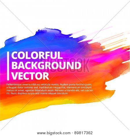 colorful ink splash background vector design illustration