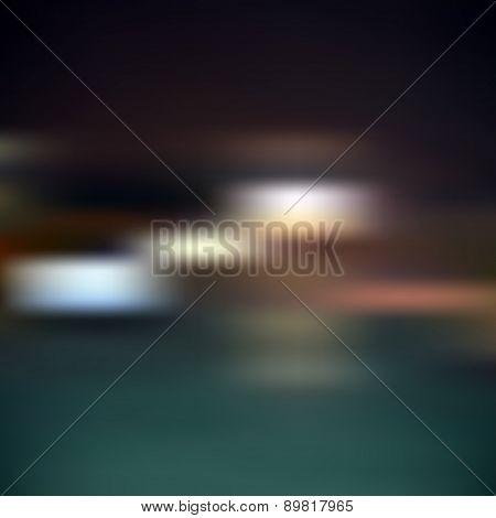Abstract Blur Bokeh Vector Dark Night Background Eps10