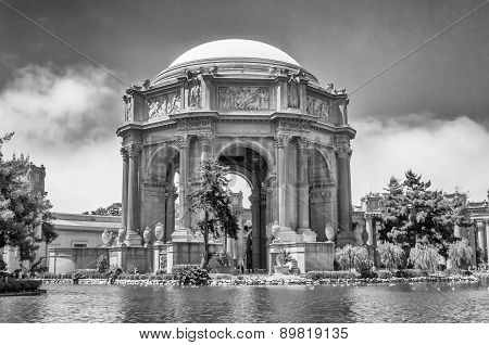 The Palace Of Fine Arts In San Francisco, Usa