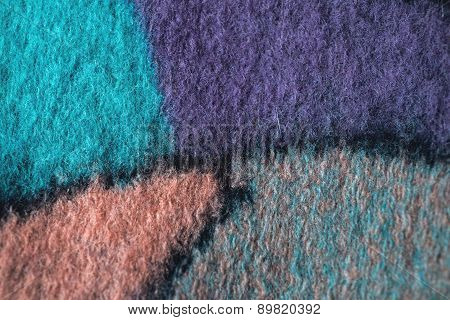 textured fabric on wooden background