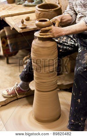 Turkish Potter In Cappadocia