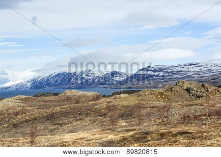 Volcano Mountain Landscape In Winter